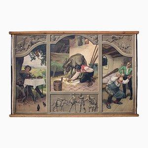 Tableau Mural Lithographique de Conte de Fées par Paul Hey, 1939