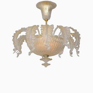 Lámpara de araña Mid-Century de cristal de Murano de Barovier & Toso