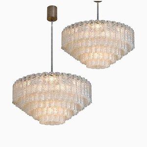 Lampadari grandi da sala da ballo di Doria Leuchten, anni '60, set di 2