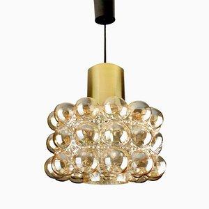 Lámparas colgantes de vidrio de Helena Tynell para Limburg Glashutte, 1960. Juego de 2