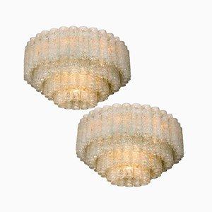 Organische Große Vintage Ballhaus Deckenlampen von Doria, 2er Set