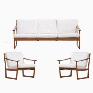 Divano FD130 e 2 sedie di Peter Hvidt & Orla Mølgaard-nielsen per France & Søn, Danimarca