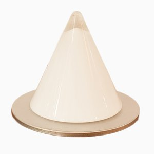 German Blown Glass Conical Table Lamp from Peill Putzler, 1970s
