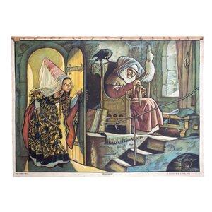 Tableau Mural du Conte de Fées Sleeping Beauty par Adalbert Pilch, 1951