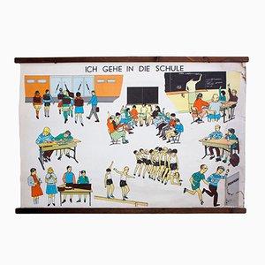 Ich gehe in die Schule Lehrtafel, 1968