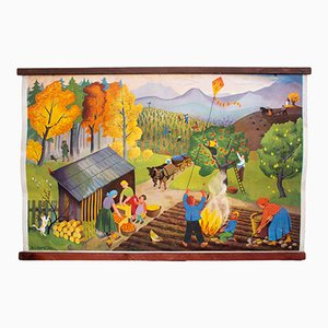 Autumn Wall Chart, 1952