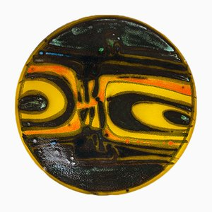 Mid-Century Pottery Plate by Carolyn Bartlett for Poole Pottery
