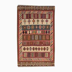 Alfombra Kilim Fulton St Carpet vintage, años 60