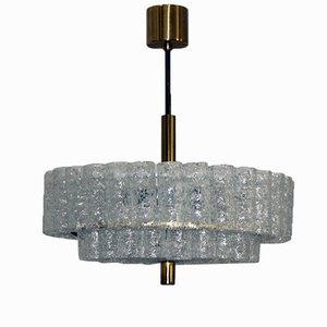 Lámpara de araña de vidrio de Doria, años 60