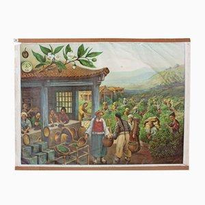 Tableau Mural de la Production de Thé, 1929