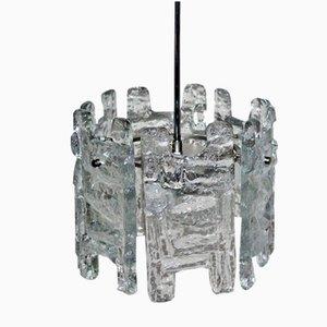 Lámpara colgante de vidrio de Kalmar, años 60