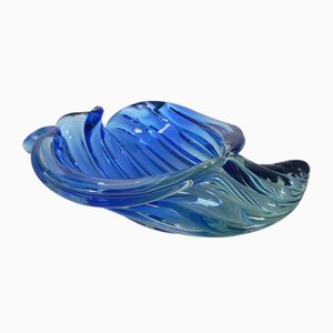 Mid-Century Glass Shell Bowl by Alfredo Barbini for Murano