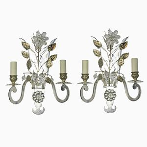 Vintage French Sconces, Set of 2