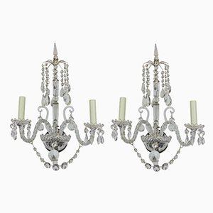 Antique English Wall Lights, Set of 2