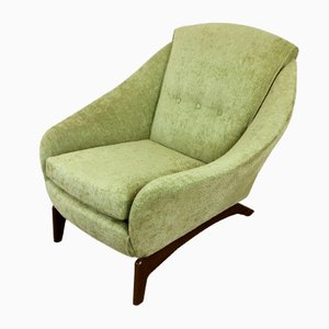 Butaca danesa vintage verde, años 60