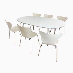 Set de Salle à Manger Vintage par Piet Hein, Bruno Mathsson & Arne Jacobsen pour Fritz Hansen