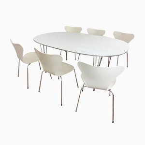 Vintage Dining Set by Piet Hein, Bruno Mathsson, & Arne Jacobsen for Fritz Hansen