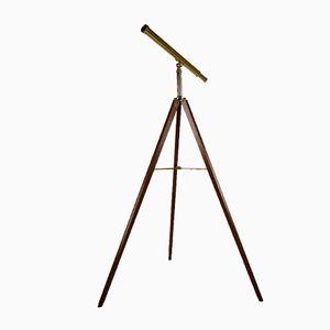 Vintage Messing Teleskop von Van Cort