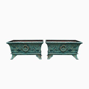 Antique French Cast Iron Planters