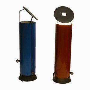 Lámparas de mesa modelo Sax de Paolo Cassai para Sirrah, 1975. Juego de 2