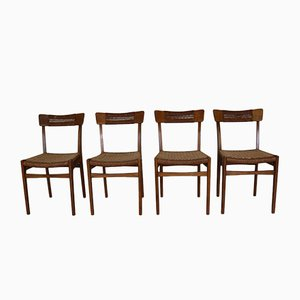 Mid-Century Scandinavian Dinner Chairs, Set of 4
