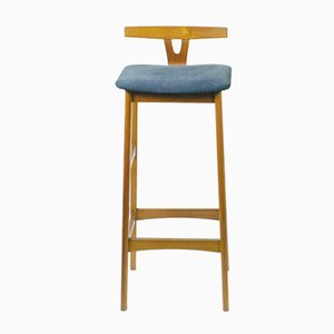 Danish Teak Barstool by Knud Bent for Dyrlund, 1960s