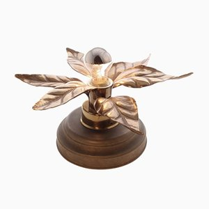 Brass Flower Lamp, 1960s