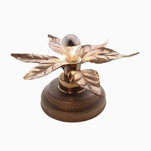 Brass Flower Lamp, 1960s