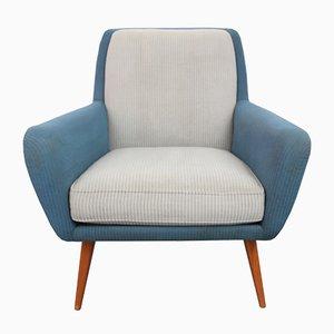 Butaca en azul y gris claro, años 50