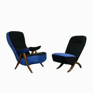 Mid-Century Model 107 & Congo Lounge Chairs by Theo Ruth for Artifort, Set of 2