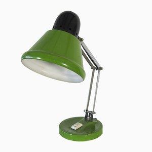 Lámpara de mesa griega vintage verde y negra