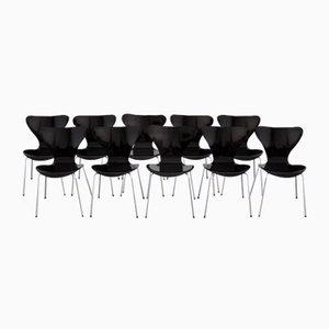 Chaises 3107 Série Butterfluy par Arne Jacobsen pour Fritz Hansen, 1968, Set de 10
