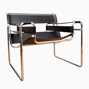 Vintage B3 Wassily Sessel von Marcel Breuer für Gavina