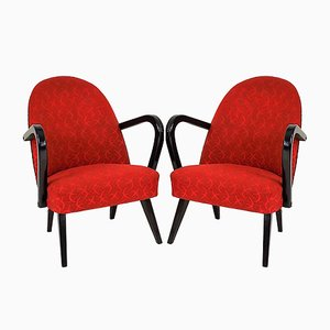 Red Polish Armchairs, 1960s, Set of 2