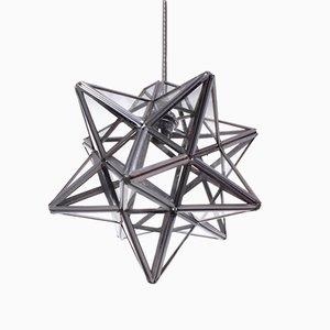 Sternförmige Silberne Metall Laterne, 1980er