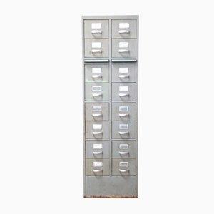 Industrieller Aktenschrank mit 16 Schubladen, 1960er