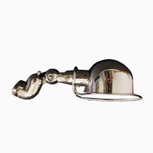 Lámpara de pared cromada de Jean-Louis Domecq para Jieldé, años 50