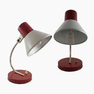 Mid-Century Schreibtischlampen von Gutilux, 1960er, 2er Set