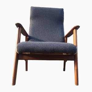 Danish Mid-Century High Back Teak Easy Chair, 1960s