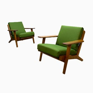 Mid-Century Ge290 Lounge Armchairs by Hans Wegner for Getama, Set of 2