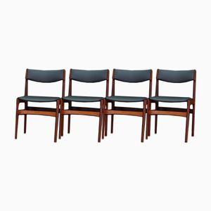 Dänische Mid-Century Palisander Stühle, 4er Set