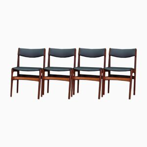 Mid-Century Danish Rosewood Chairs, Set of 4