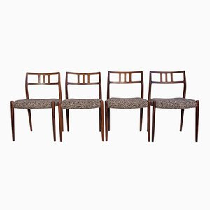 Mid-Century Model 79 Rosewood Chairs by Niels Otto Møller for J.L. Møllers, Set of 4