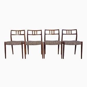 Mid-Century Modell 79 Palisander Stühle von Niels Otto Møller für J.L. Møllers, 4er Set