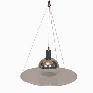 Lámpara colgante Frisbi 850 italiana vintage de Achille Castiglioni para Flos