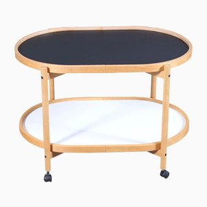 Danish Modernist Oval Beech Tray Trolley by Hans Bølling for Torben Ørskov, 1970s