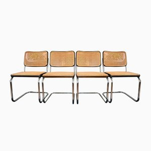 Vintage B32 Side Chairs by Marcel Breuer for Thonet, Set of 4