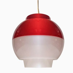 Danish Modernist Fakta Plexiglas Pendant Lamp by Bent Karlby for ASK, 1970s