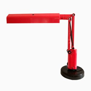 Vintage Red Swedish Lucifer Desk Lamp by Tom Ahlström & Hans Ehrich for Fagerhults