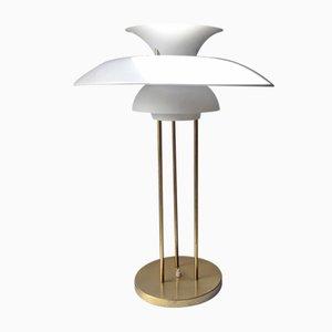 Lampada da tavolo PH5 in ottone di Poul Henningsen per Louis Poulsen, Danimarca, anni '70